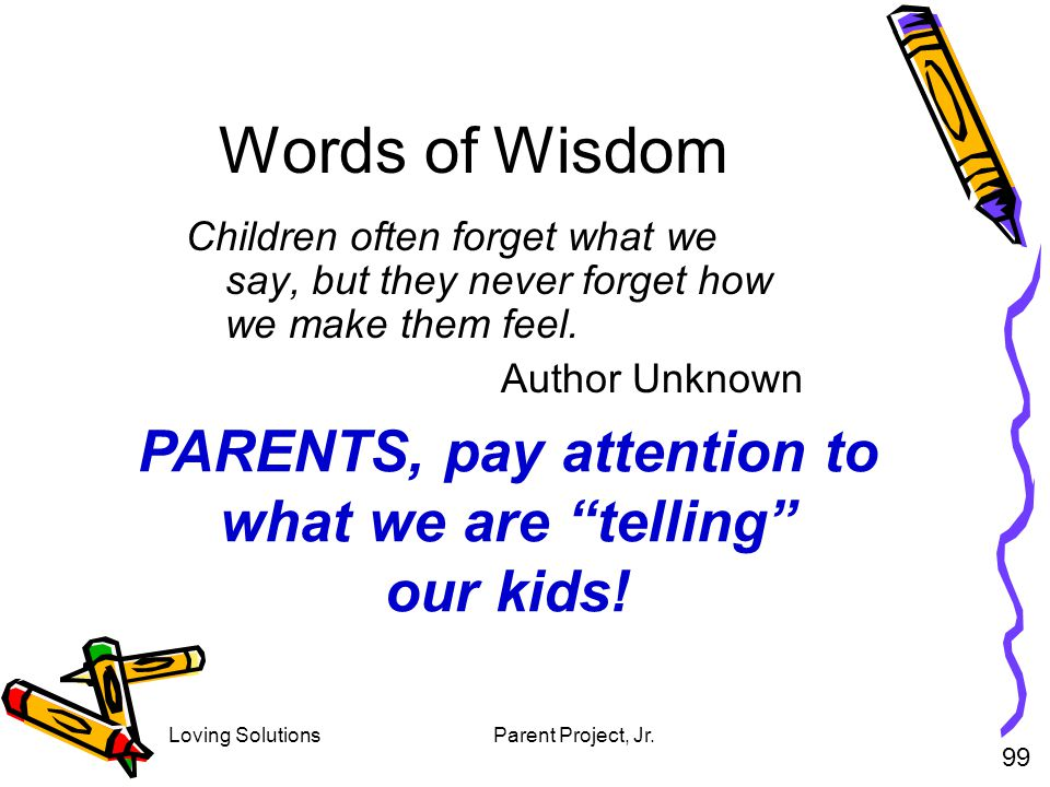 PARENTS, pay attention to