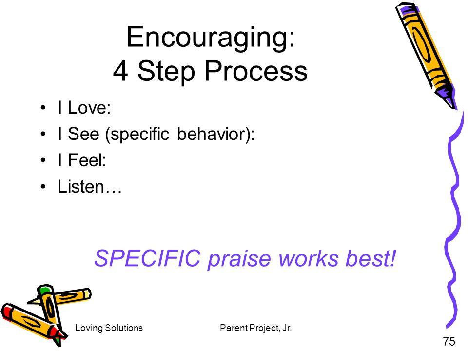 Encouraging: 4 Step Process