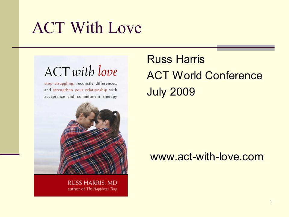 ACT With Love Russ Harris ACT World Conference July 2009