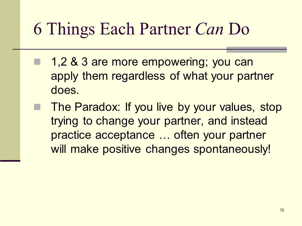 6 Things Each Partner Can Do