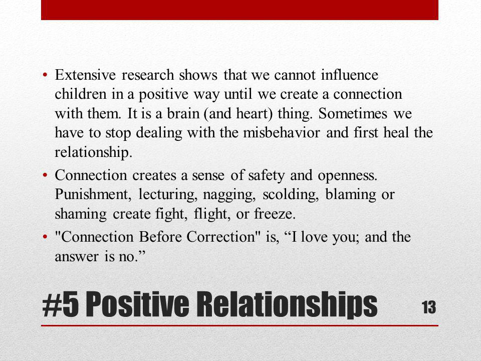 #5 Positive Relationships