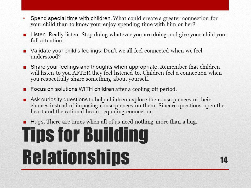 Tips for Building Relationships