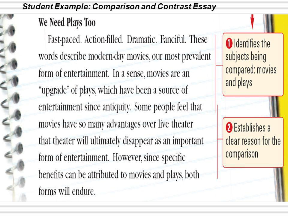 compare and contrast essays about movies Free essay: similarities buck lives in judges millers estate at the beginning of both the book and the movie he is then kidnapped by manuel, the gardener.
