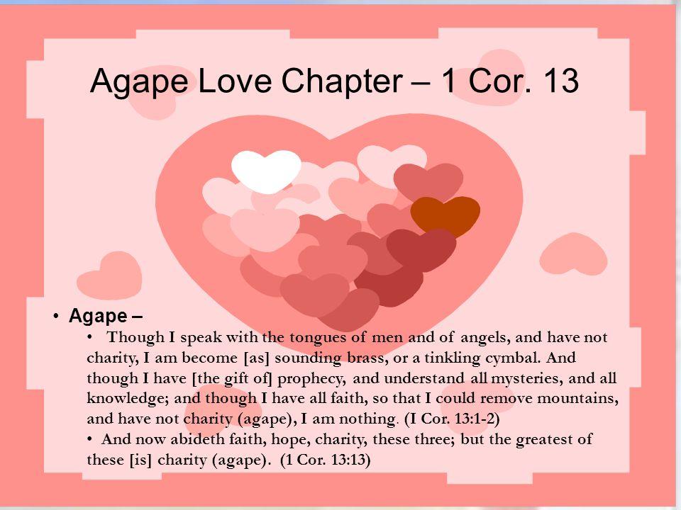 Agape Love Chapter – 1 Cor. 13