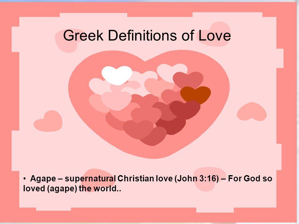 Greek Definitions of Love