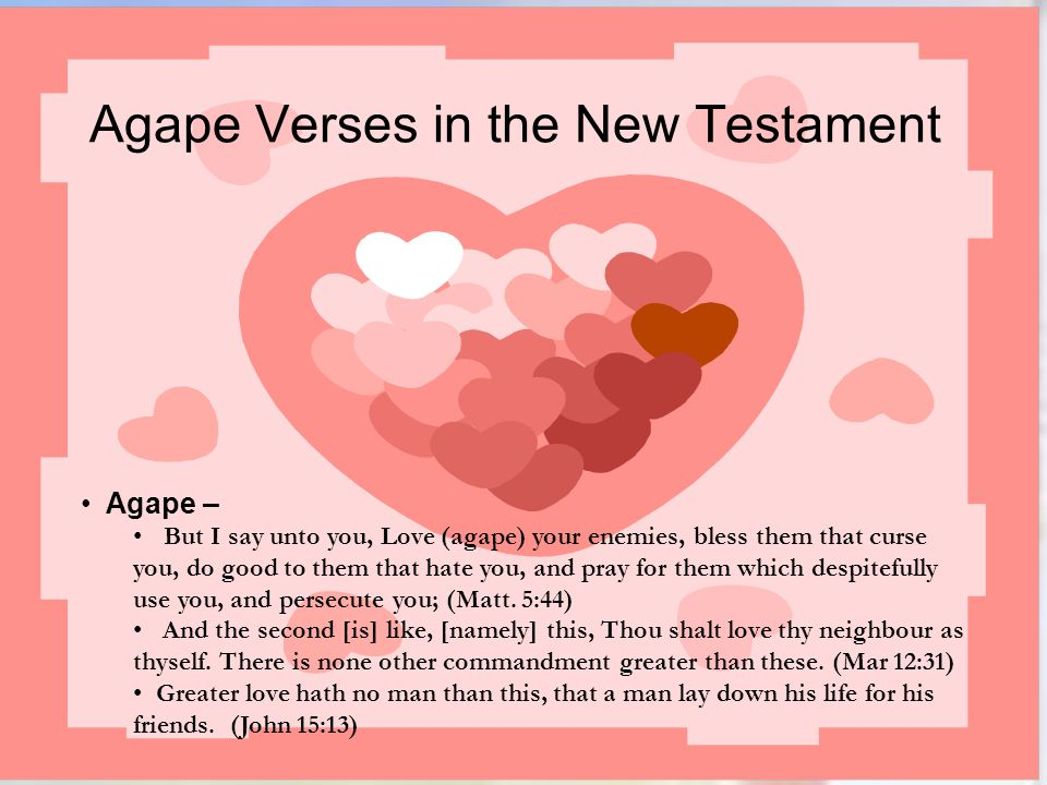 Agape Verses in the New Testament