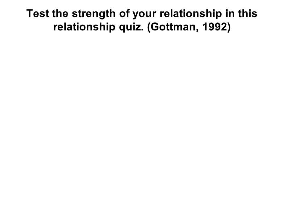 Test the strength of your relationship in this relationship quiz