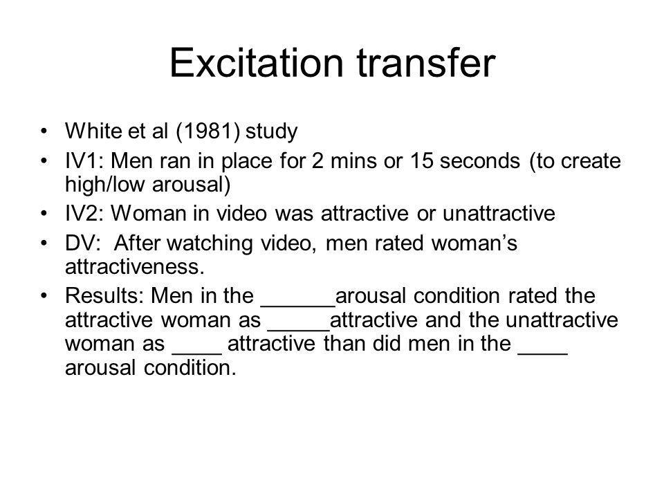 Excitation transfer White et al (1981) study