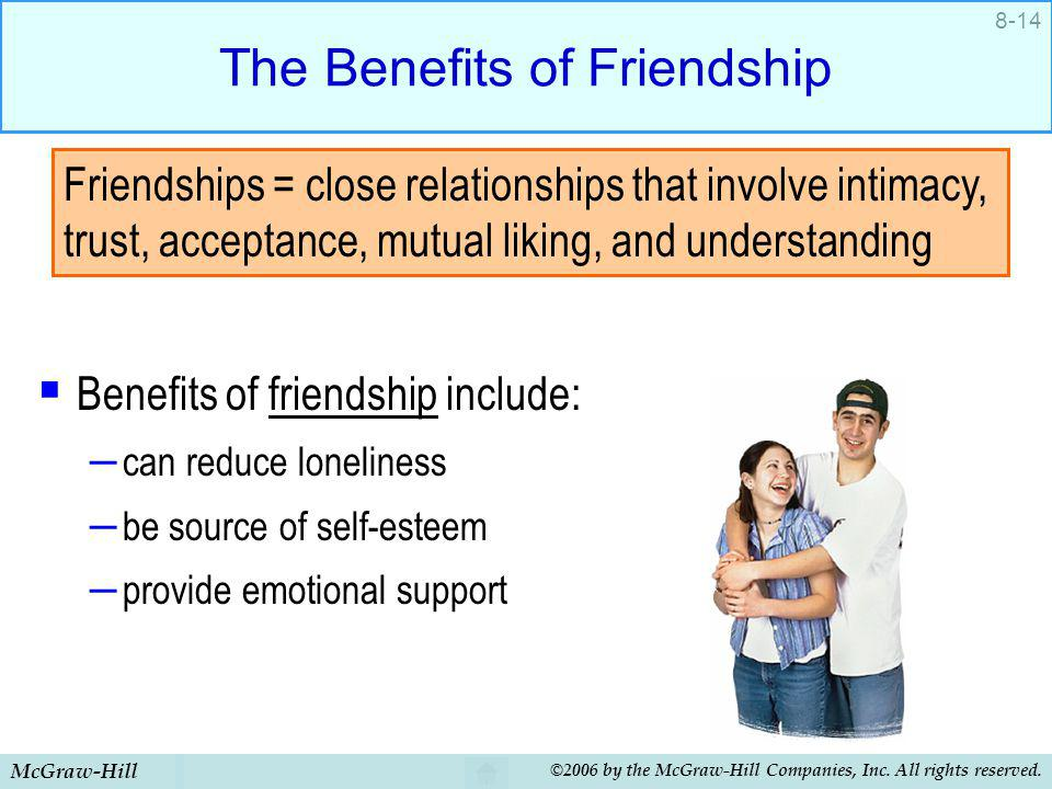 The Benefits of Friendship