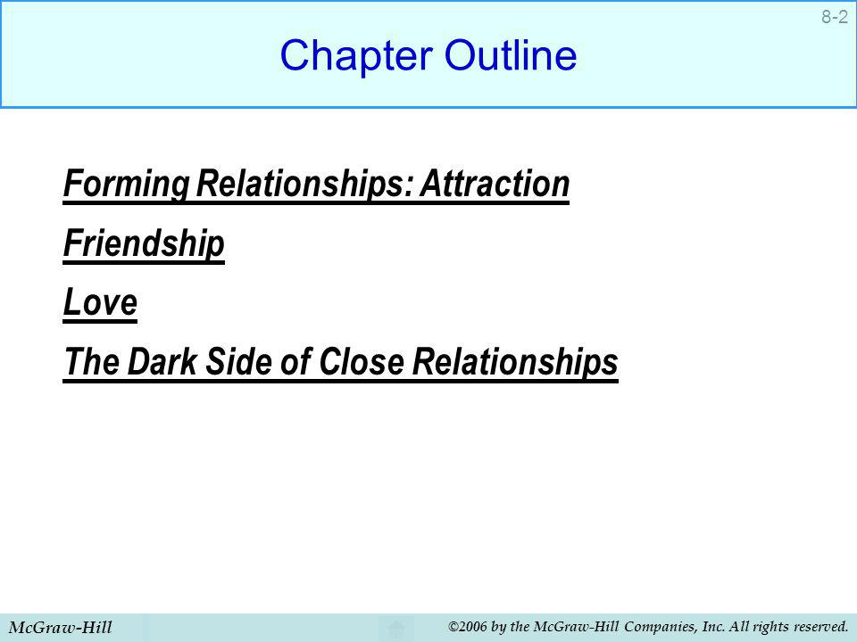 Chapter Outline Forming Relationships: Attraction Friendship Love