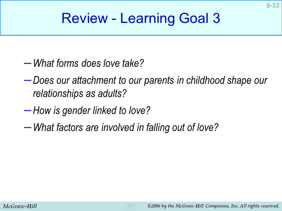 Review - Learning Goal 3 What forms does love take