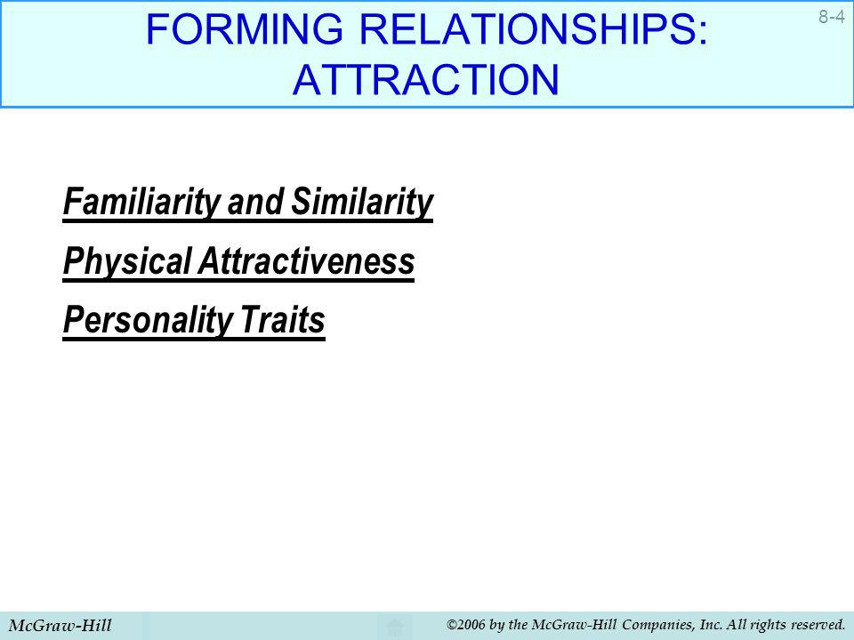 FORMING RELATIONSHIPS: ATTRACTION
