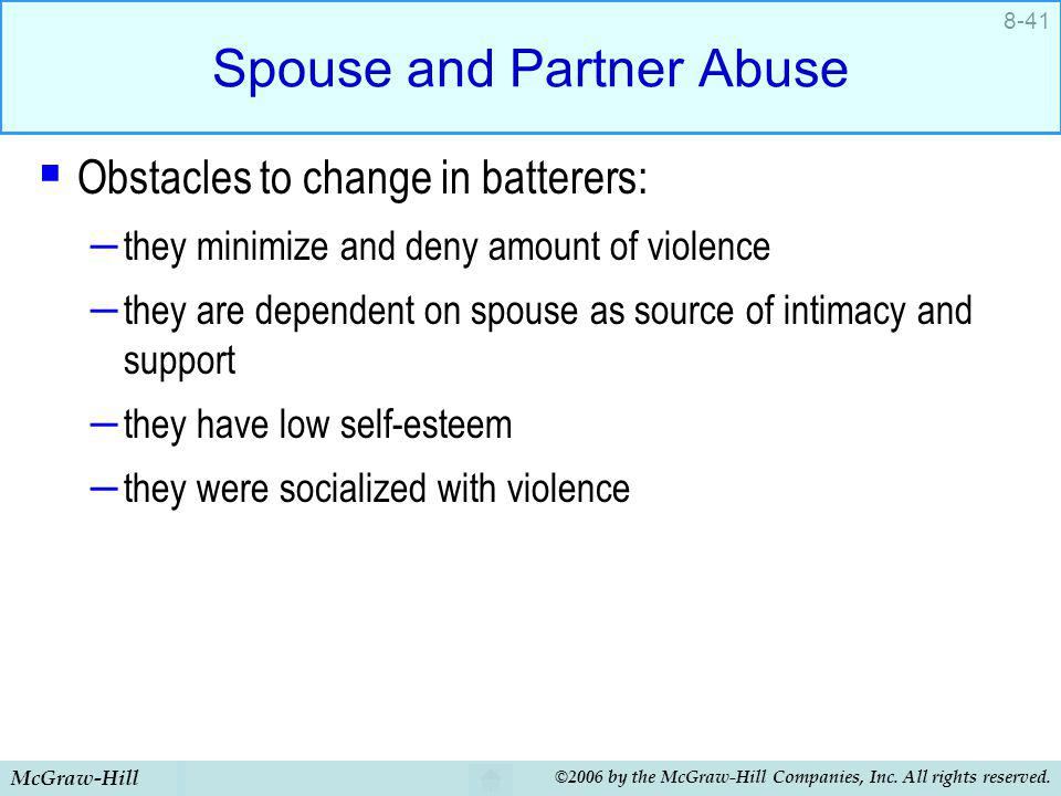 Spouse and Partner Abuse