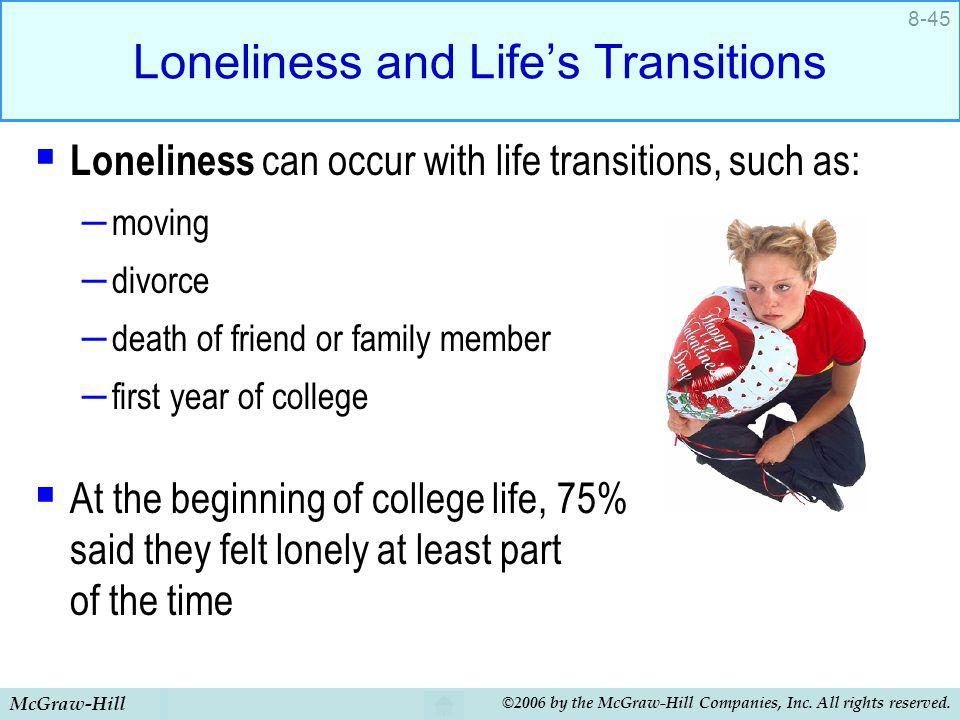 Loneliness and Life's Transitions