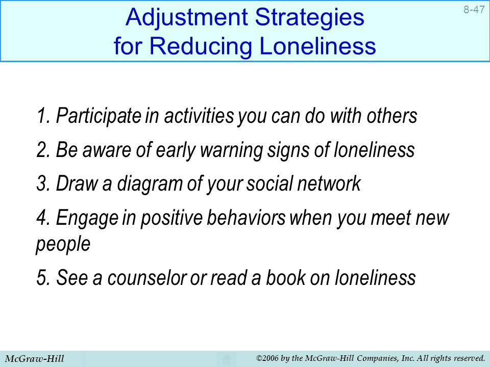 Adjustment Strategies for Reducing Loneliness