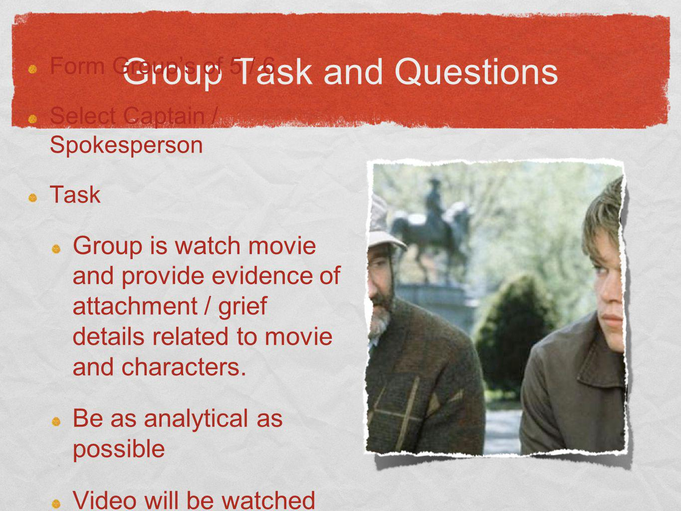 Group Task and Questions