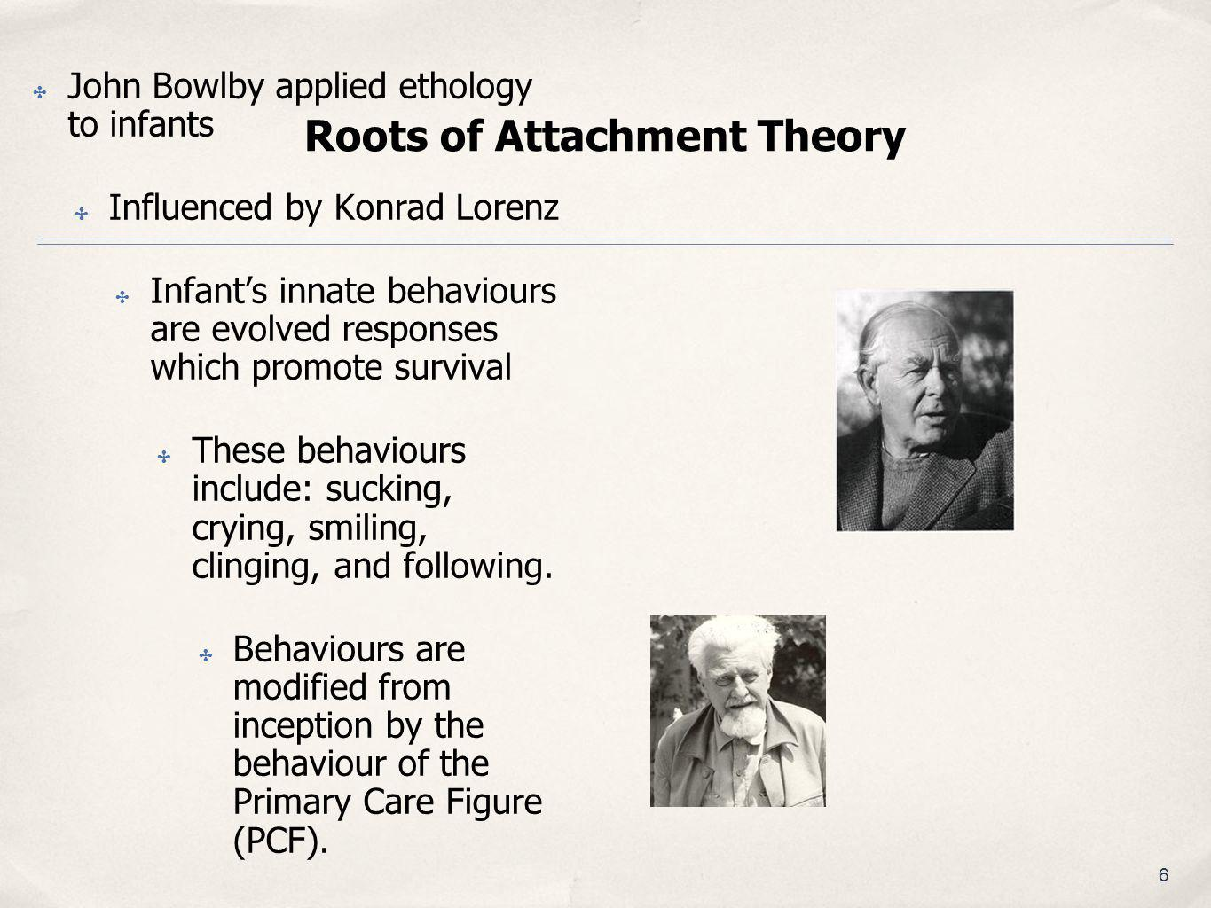 Roots of Attachment Theory