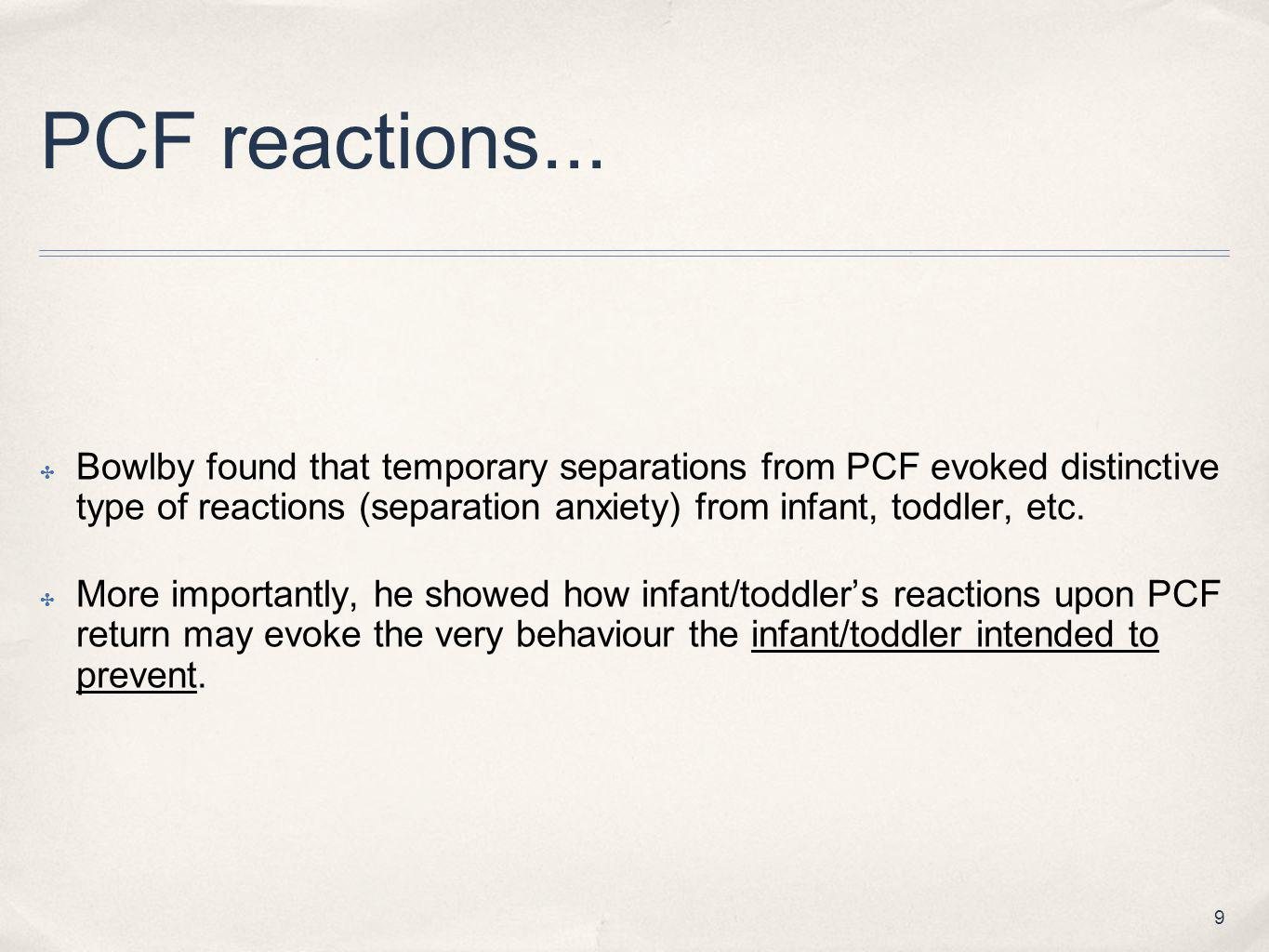 PCF reactions...
