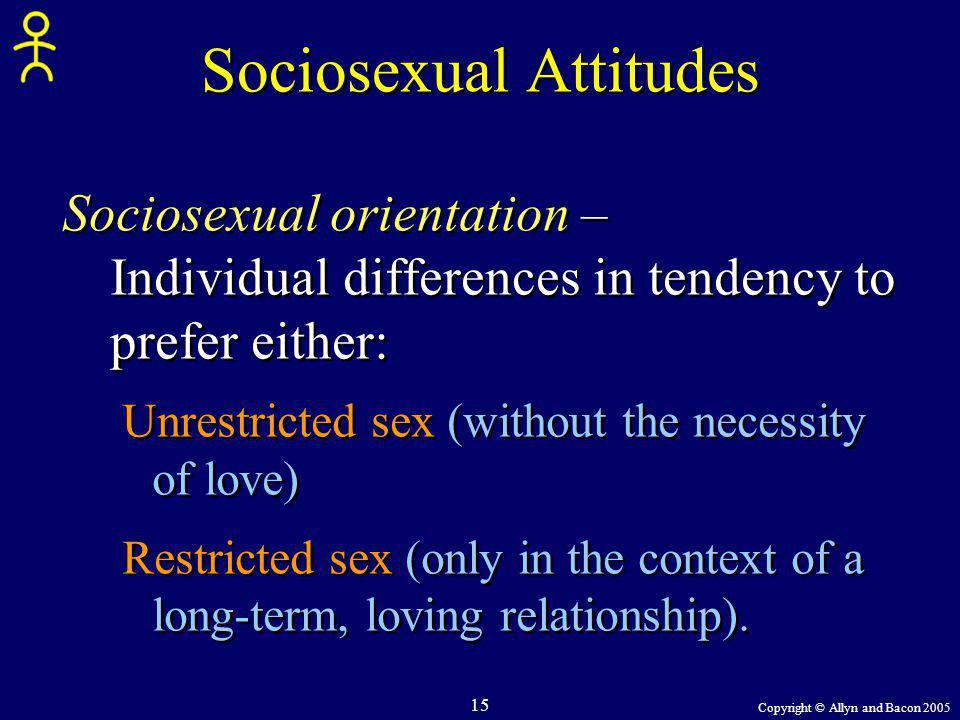 Sociosexual Attitudes