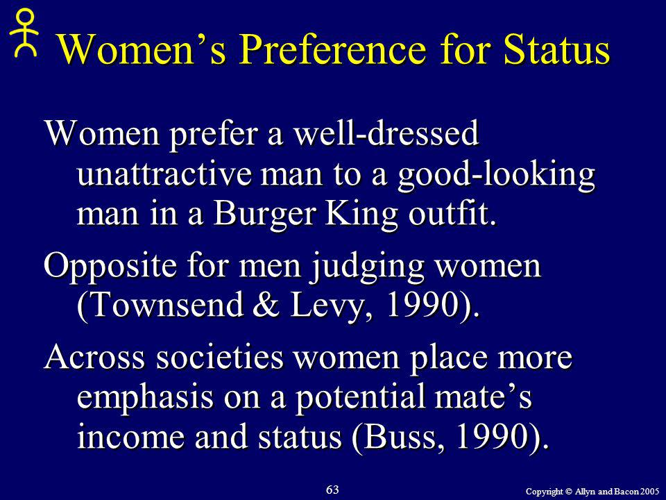 Women's Preference for Status