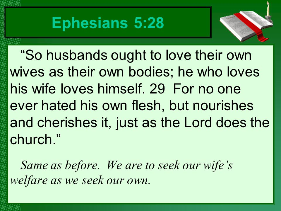 Ephesians 5:28