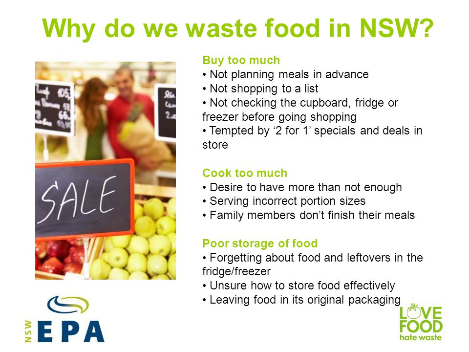 Why do we waste food in NSW
