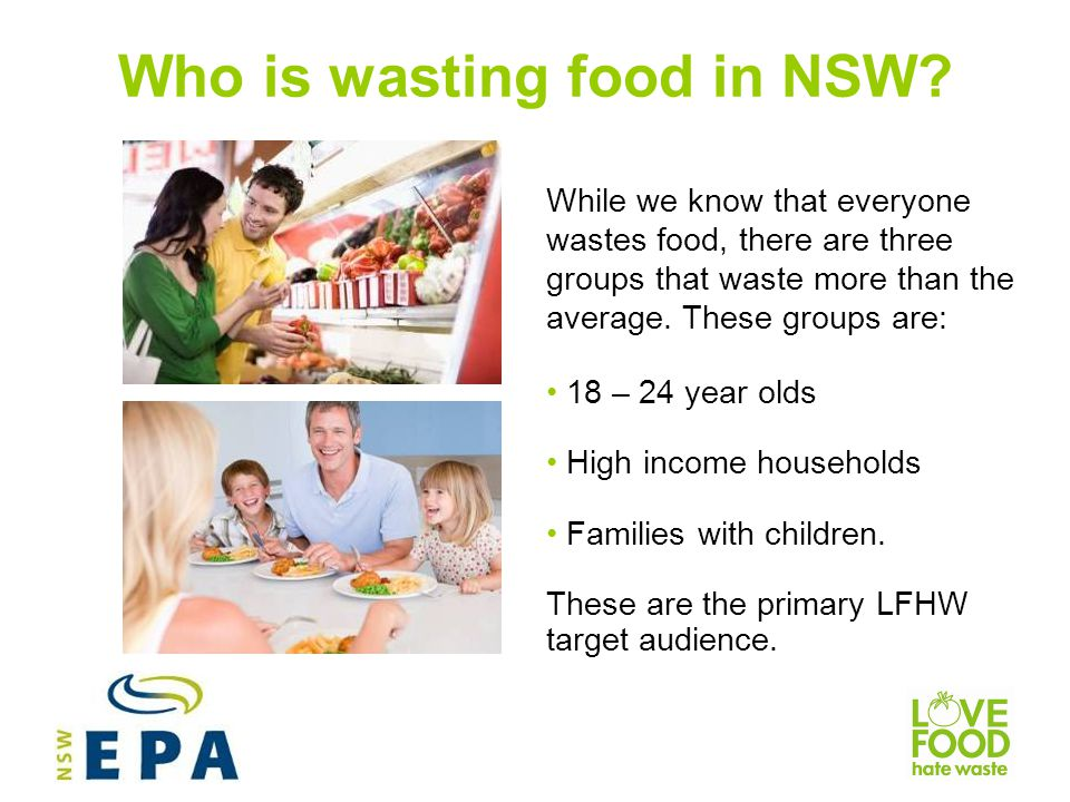 Who is wasting food in NSW