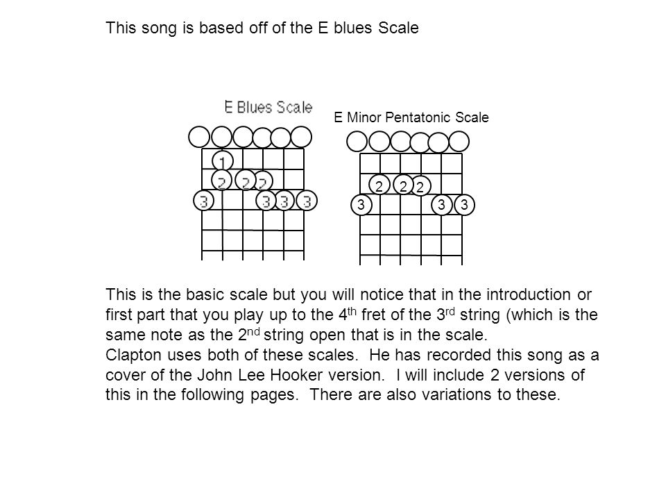 This song is based off of the E blues Scale