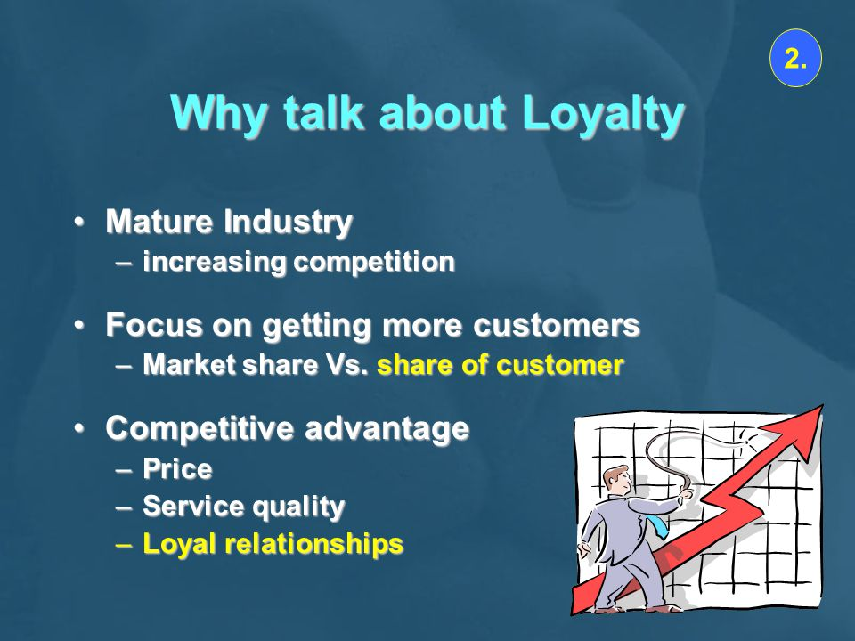 Why talk about Loyalty Mature Industry Focus on getting more customers