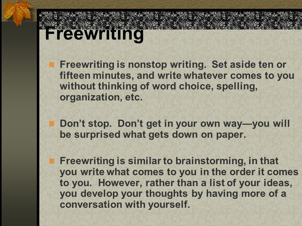 Freewriting