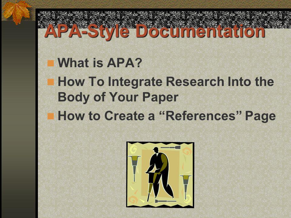 APA-Style Documentation