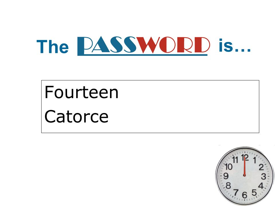 The is… Fourteen Catorce