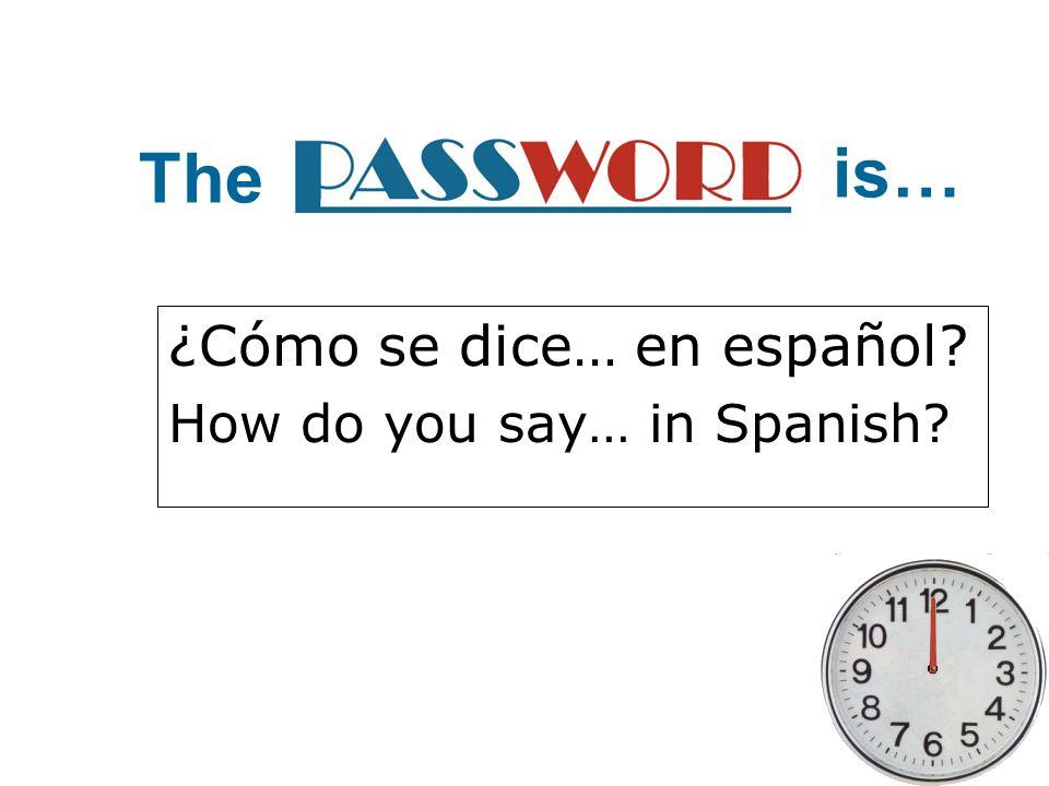 ¿Cómo se dice… en español How do you say… in Spanish