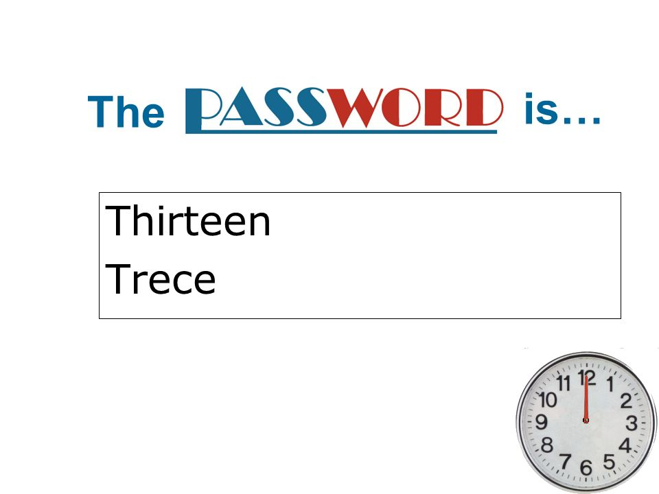 The is… Thirteen Trece