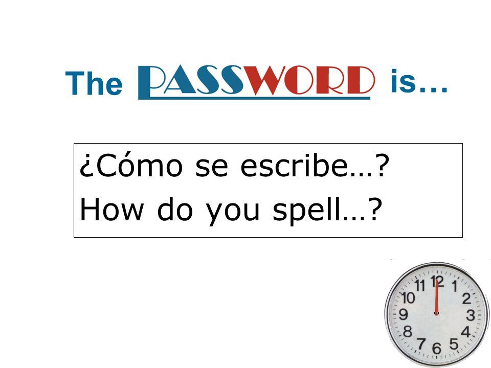 ¿Cómo se escribe… How do you spell…