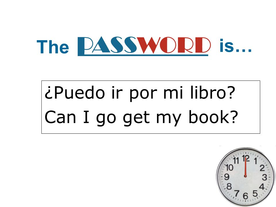 ¿Puedo ir por mi libro Can I go get my book