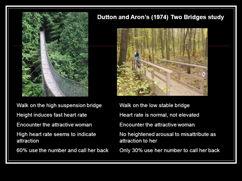 Dutton and Aron Suspension Bridge Experiment | Psychology ...