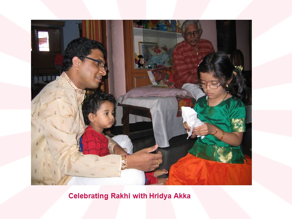 Celebrating Rakhi with Hridya Akka