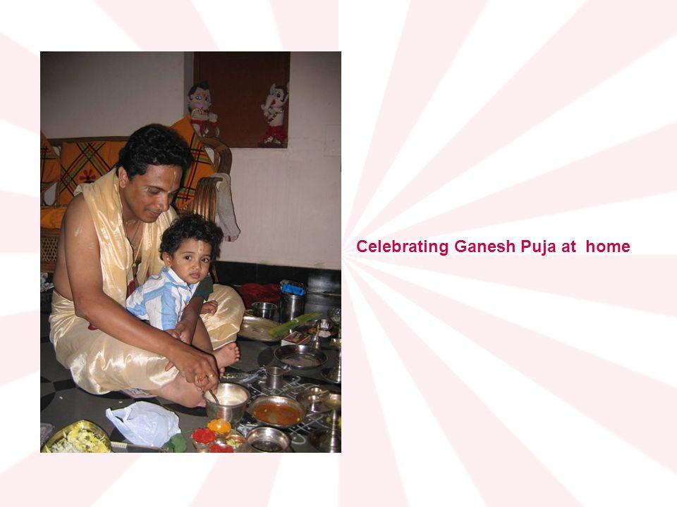 Celebrating Ganesh Puja at home