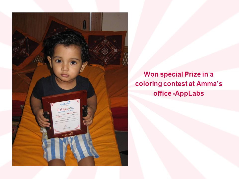 coloring contest at Amma's