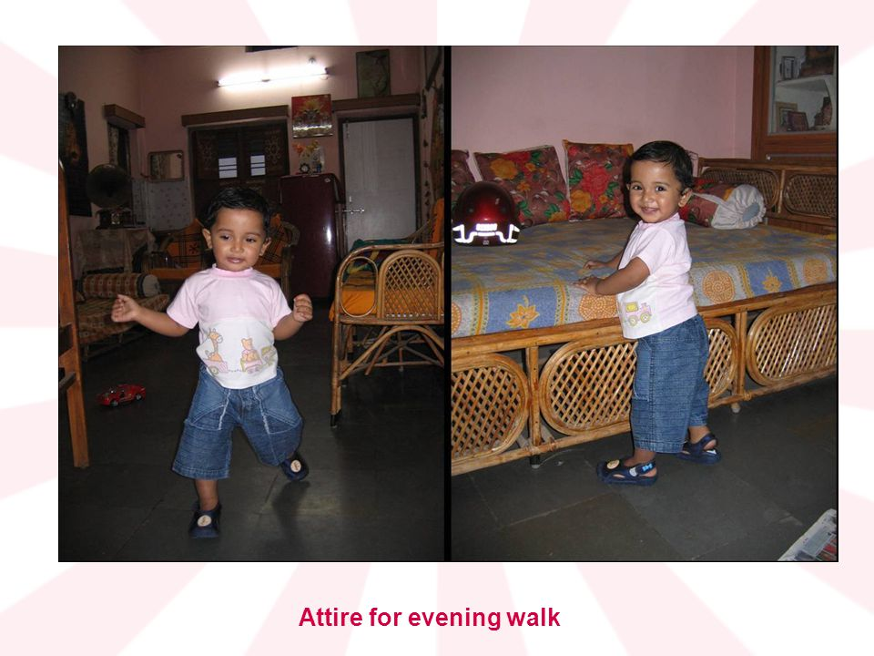 Attire for evening walk