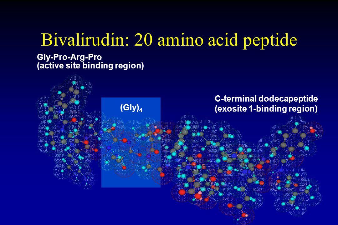 Bivalirudin: 20 amino acid peptide