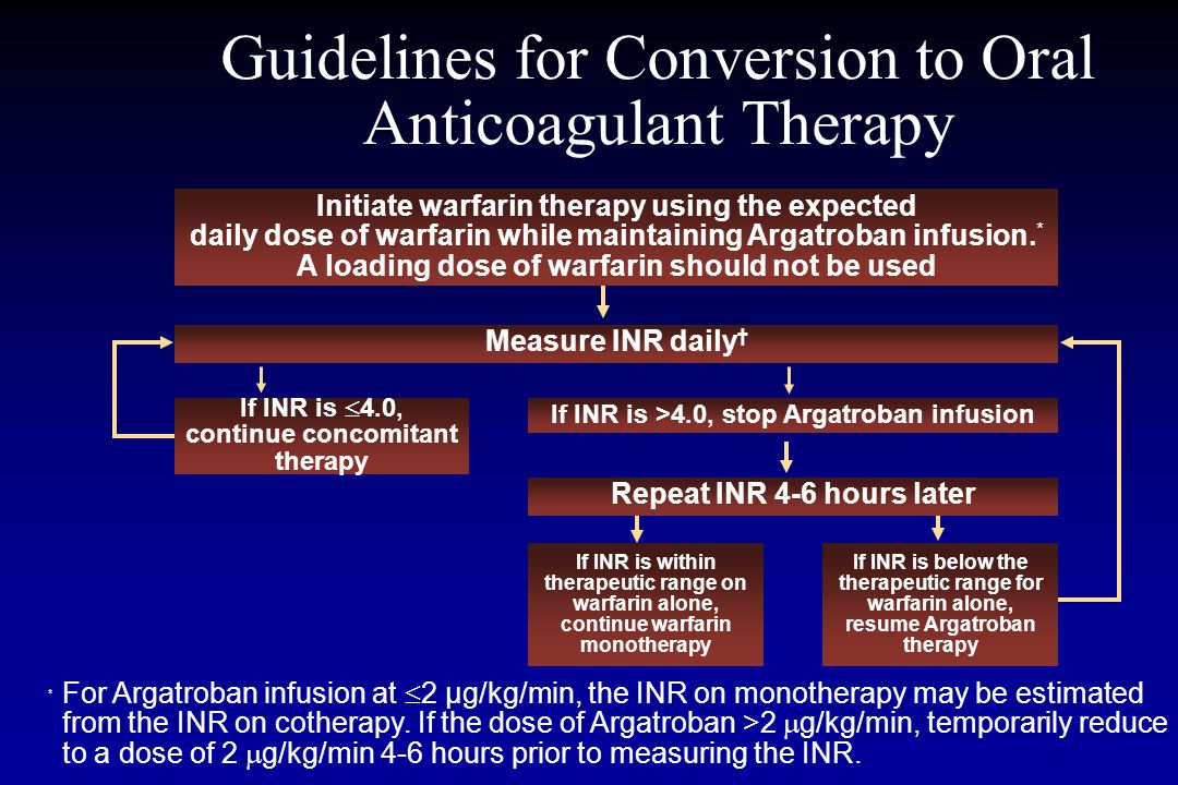 Guidelines for Conversion to Oral Anticoagulant Therapy