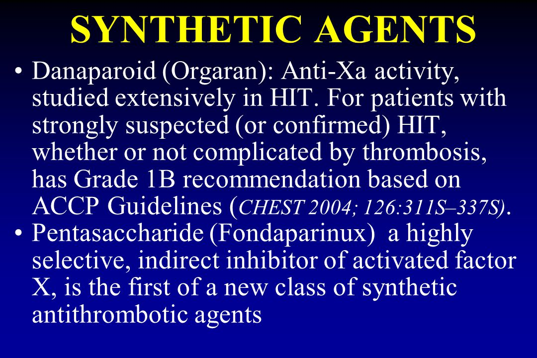 SYNTHETIC AGENTS