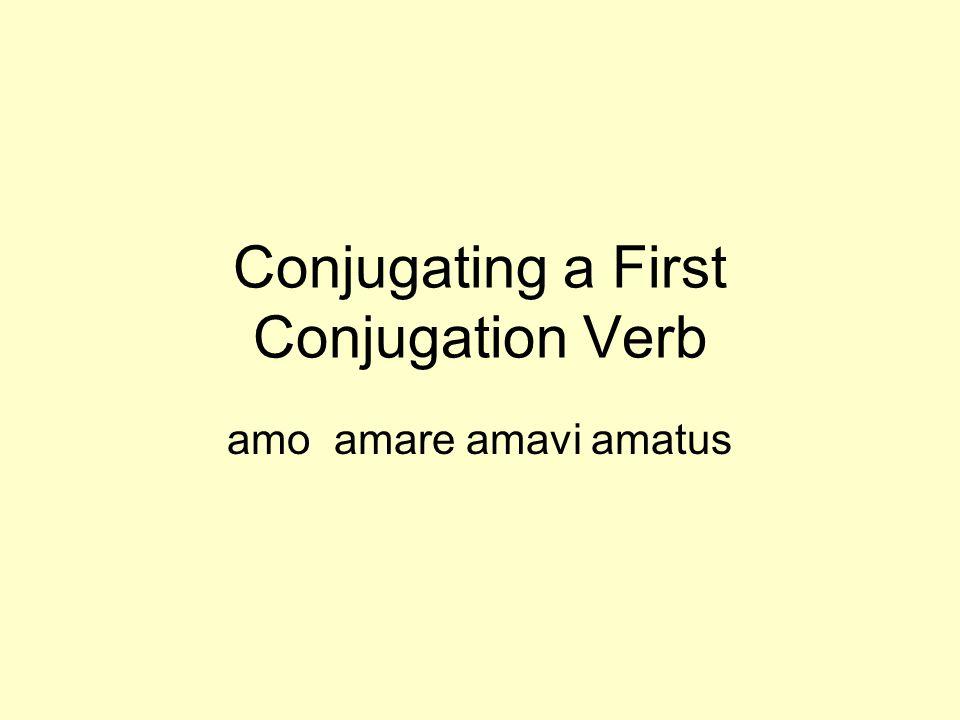Conjugating a First Conjugation Verb