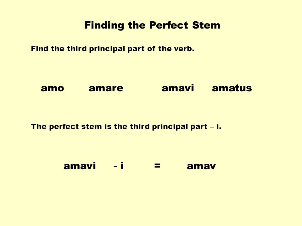 Finding the Perfect Stem