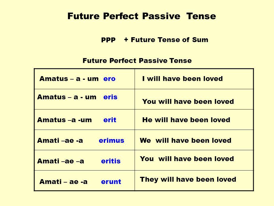Future Perfect Passive Tense