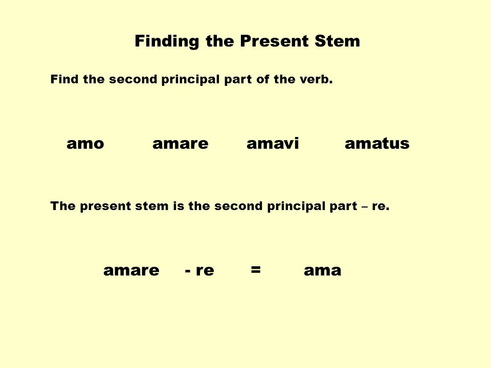 Finding the Present Stem