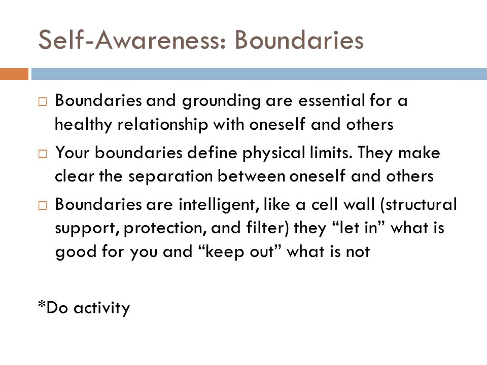 Self-Awareness: Boundaries