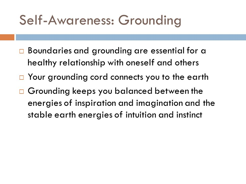 Self-Awareness: Grounding